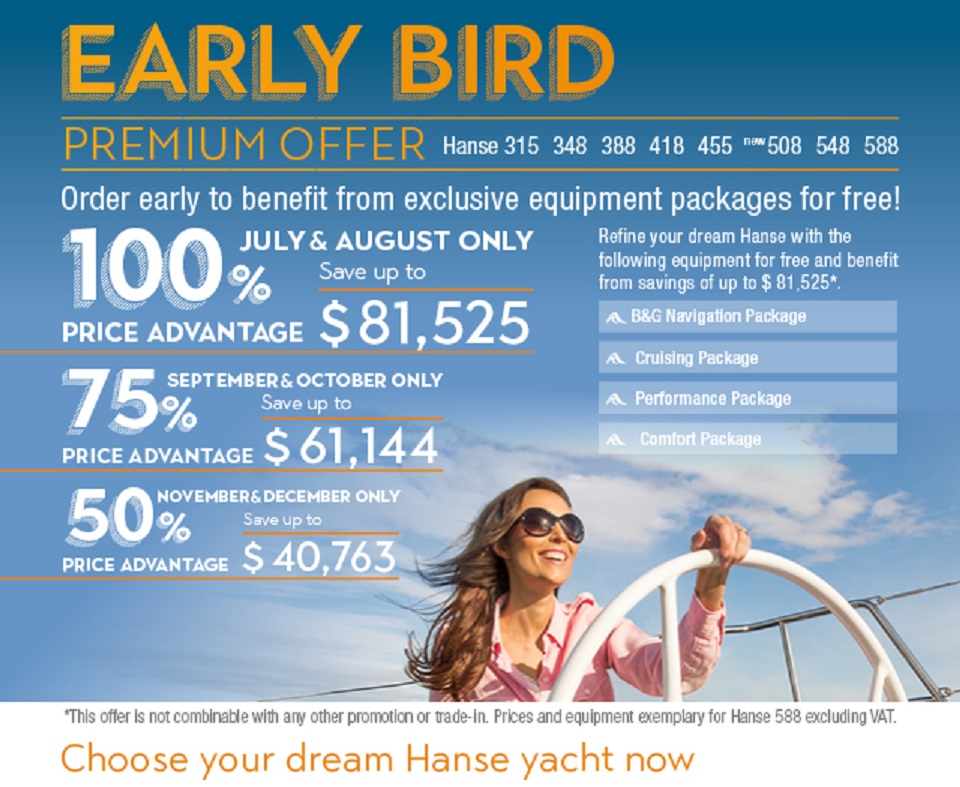 Hanse Early Bird Special 2018